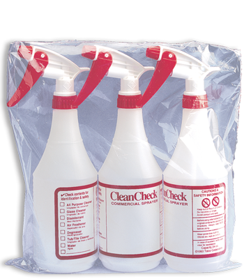 Cleancheck 3 Pack Bottles