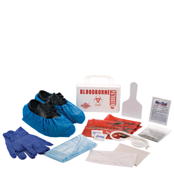 Bloodborne Pathogen Clean Up Kit in Plastic Case