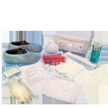 Bloodborne Pathogen Clean Up Kit in Corrugated Case