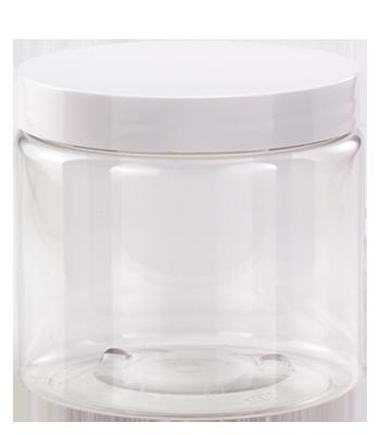 16 oz. Clear Jar with Lid