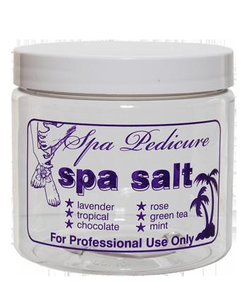 "16 oz. ""Spa Salt"" Jar with Lid"