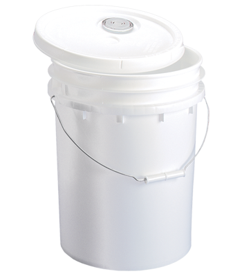 5 Gallon Pail with Lid & Flex Spout