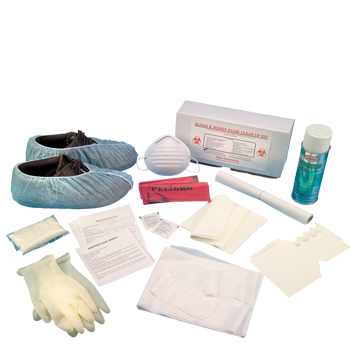 Bloodborne Pathogen Clean Up Kit in Corrugated Case