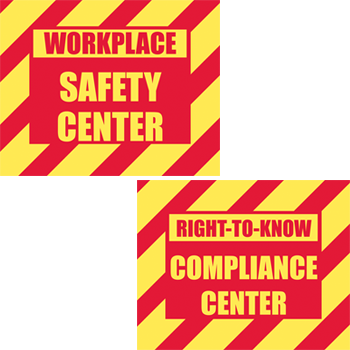 Safety Center / Right-to-Know – Two Sided Sign