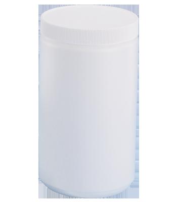 24 oz. White Jar with Lid
