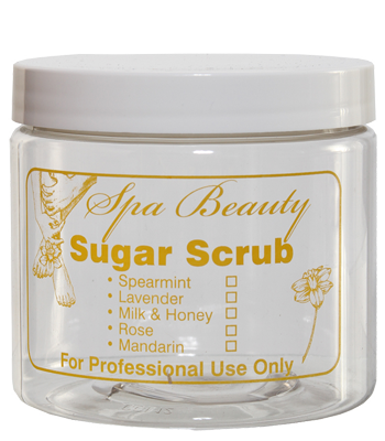 "16 oz. ""Sugar Scrub"" Jar with Lid"