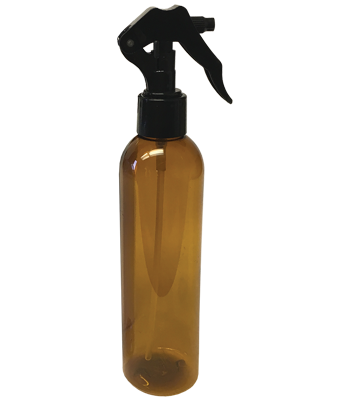 Black Micro Sprayer with Amber Bullet Bottle