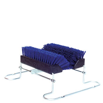 Shoe & Boot Brush with Metal Rack